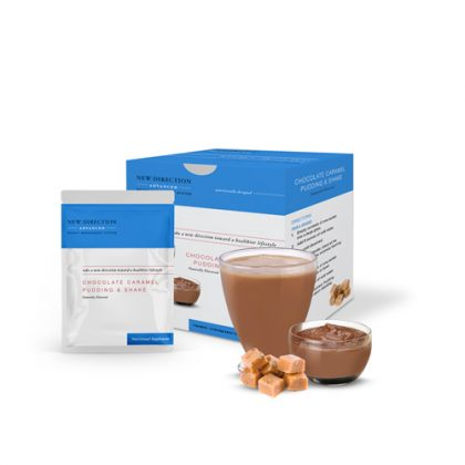 New Direction Advanced Chocolate Caramel Pudding & Shake Box Foil Product