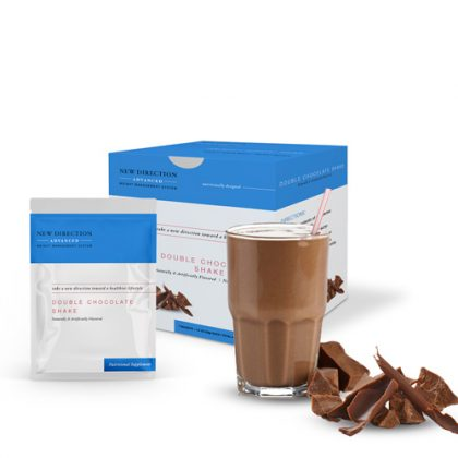 New Direction Advanced Double Chocolate Shake Box Foil Product