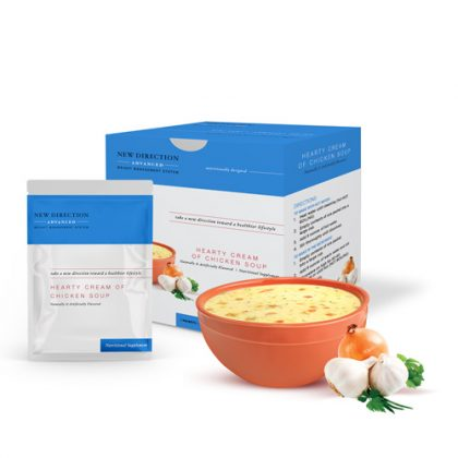 New Direction Advanced Hearty Cream of Chicken Soup Box Foil Product