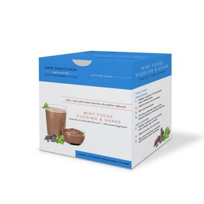 New Direction Advanced Mint Fudge Pudding & Shake Box