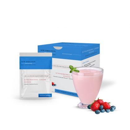New Direction Advanced Strawberry Creme Shake Box Foil Product